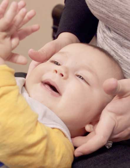 Adjusting a baby's neck